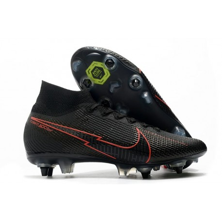 Nike Mercurial Superfly 7 Elite SG DF AC - Svart Röd