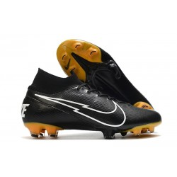Nike Mercurial Superfly7 Elite DF FG Svart Vit