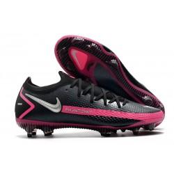 Fotbollsskor för Män Nike Phantom GT Elite FG - Svart Silver Rosa