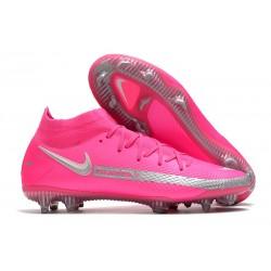 Fotbollsskor för Herrar Nike Phantom GT Elite DF FG Rosa Silver