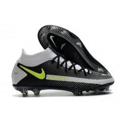 Fotbollsskor för Herrar Nike Phantom GT Elite DF FG Svart Grå Gul