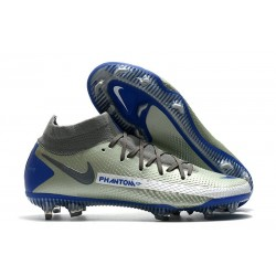 Nike Phantom GT Elite Dynamic Fit FG Silver Blå