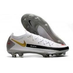Nike Fotbollsskor 2021 Phantom GT Elite FG - Vit Svart Röd