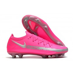 Nike Fotbollsskor 2021 Phantom GT Elite FG - Rosa Silver