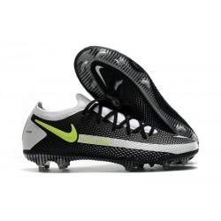 Nike Fotbollsskor 2021 Phantom GT Elite FG - Svart Grå Gul