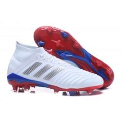 adidas Fotbollsskor Predator 18.1 FG Herrar - Telstar Vit Silver