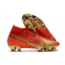 Fotbollsskor Nike Mercurial Superfly VII Elite FG CR100 Röd Guld
