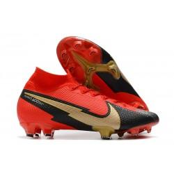 Fotbollsskor Nike Mercurial Superfly VII Elite FG Röd Svart Guld