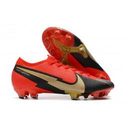 Fotbollsskor Nike Mercurial Vapor 13 Elite FG Röd Svart Guld
