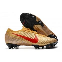 Fotbollsskor Nike Mercurial Vapor 13 Elite FG Guld Röd