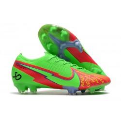 Fotbollsskor Nike Mercurial Vapor 13 Elite FG Grön Röd