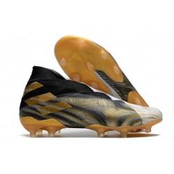 adidas Nemeziz 19+ FG/AG Svart Guld Vit