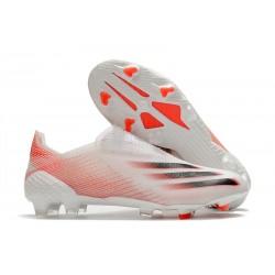 Fotbollsskor för Herrar adidas X Ghosted + FG Vit Röd Svart