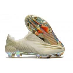 Fotbollsskor för Herrar adidas X Ghosted + FG Inflight - Vit Guld Svart