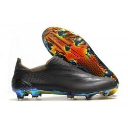 Fotbollsskor Herrar adidas X Ghosted + FG Superlative - Gul Svart Blå