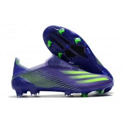 Fotbollsskor för Herrar adidas X Ghosted + FG Lila Grön