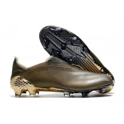 Fotbollsskor för Herrar adidas X Ghosted + FG Brun
